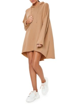 Raw Hem Hooded Sweatshirt Dress by Missguided