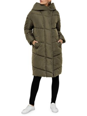 Oversized Long Puffer Jacket by Noisy May