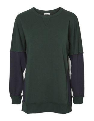 Pom Colourblock Sweater by Noisy May