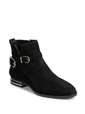 Lily Buckle Leather Ankle Boots by Dkny