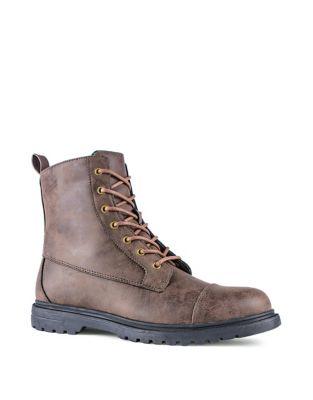 Ulric Cap Toe Boots by London Fog