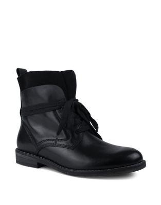 Reine Waterproof Leather Lace Wrap Boots by London Fog