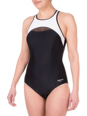 Colourblock One Piece Swimsuit by Roots
