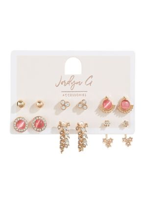 Six Pack Ball & Cateye Stud Earring Set by Jordyn G