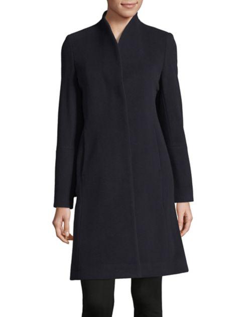 en et montant mélange Manteau de à Hiso de col en forme laine cachemire OiPXuTkZ