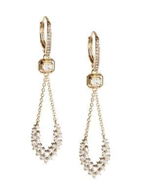Mila Crystal Drop Earrings by Nadri