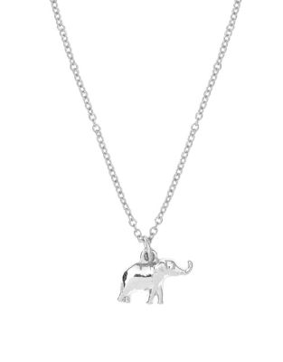 Sweet Notes Silverplated Elephant Necklace by Foxy Originals