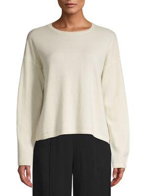 Crewneck Cashmere Sweater by Eileen Fisher