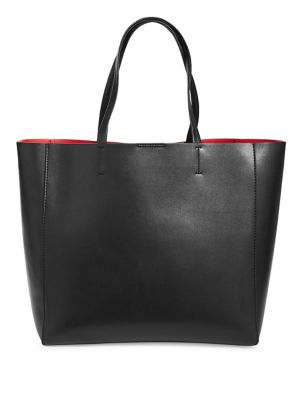 Classic Snap Top Leather Tote by Sfw