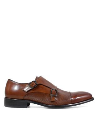 Jennings Cap Toe Double Monk Strap Shoes by Stacy Adams