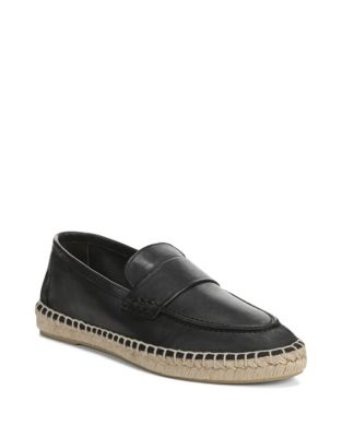 Daria Classic Leather Espadrilles by Vince