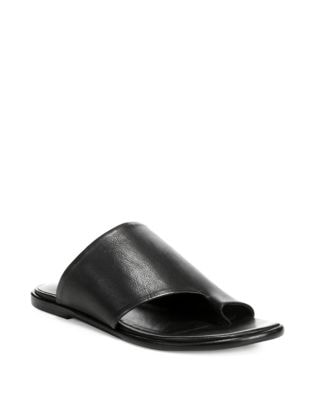 Edris Leather Slip On Sandals by Vince