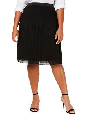 Plus Plus Size Pleated Skirt by I.N.C International Concepts