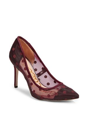 Large Dotted Mesh Pumps by Sam Edelman