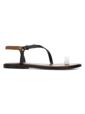 Perrigan Leather Toe Ring Sandals by Vince
