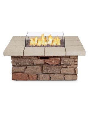 Sedona Square Lp Fire Kit With Ng Conversion Buff by Real Flame