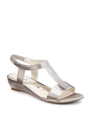 Embellished Wedge Sandals by Anne Klein