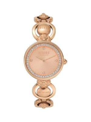 Victoria Harbour Rose Goldtone Stainless Steel & Swarovski Crystal Bracelet Watch by Versus Versace