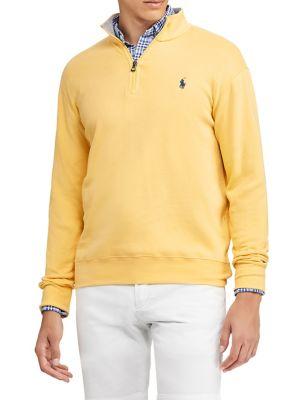Luxury Half Zip Jersey Pullover by Polo Ralph Lauren