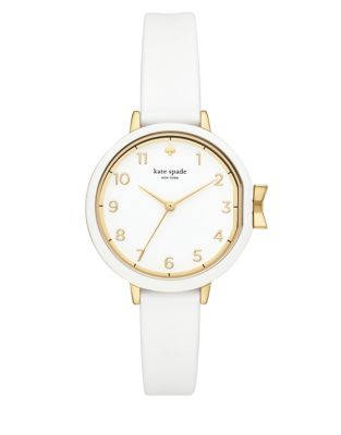 Park Row White Silicone Strap Watch by Kate Spade New York