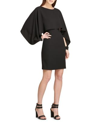 Cape Sleeve Sheath Dress by Dkny
