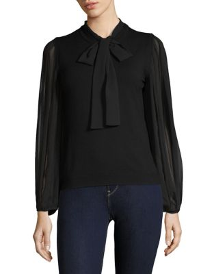Fosca Pleated Sleeve Blouse by Marella