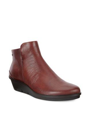 Skyler Leather Wedge Booties by Ecco