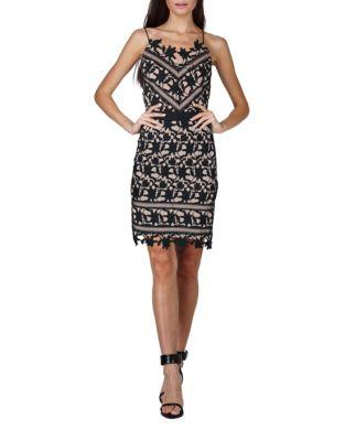 Whitney Lace Sheath Dress by Adelyn Rae