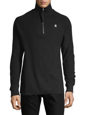 Half Zip Stretch Cotton Sweater by G Star Raw