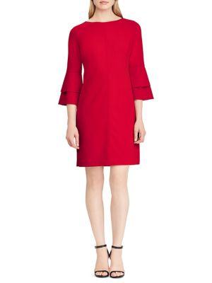 Crepe Bell Sleeve Sheath Dress by Lauren Ralph Lauren