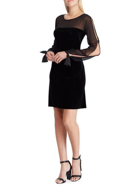 Sheath Velvet Georgette Chaps Chaps Velvet Dress Georgette QCtxshdr