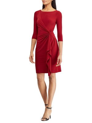 Twisted Knot Jersey Dress by Chaps
