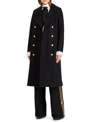 Slim Fit Double Breasted Coat by Polo Ralph Lauren