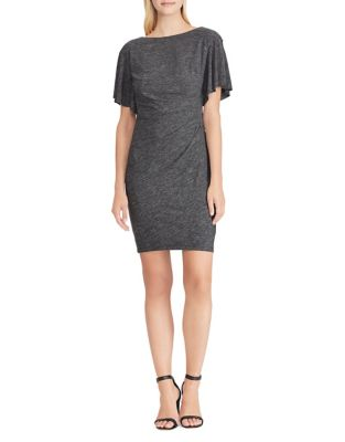 Heathered Flutter Sleeve Dress by Chaps