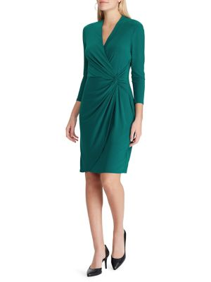 Twist Front Jersey Slim Fit Wrap Dress by Chaps