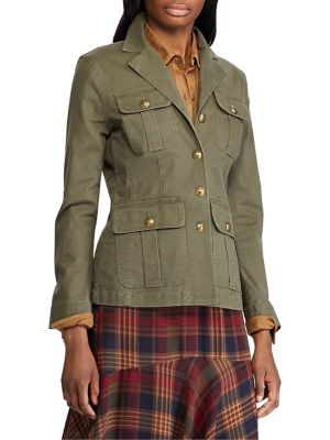 Petite Slim Fit Stretch Cotton Twill Jacket by Chaps