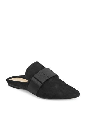Harlem Suede Mules by 424 Fifth