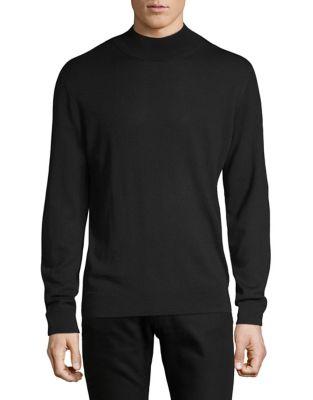 Merino Wool Mock Neck Sweater by Black Brown 1826