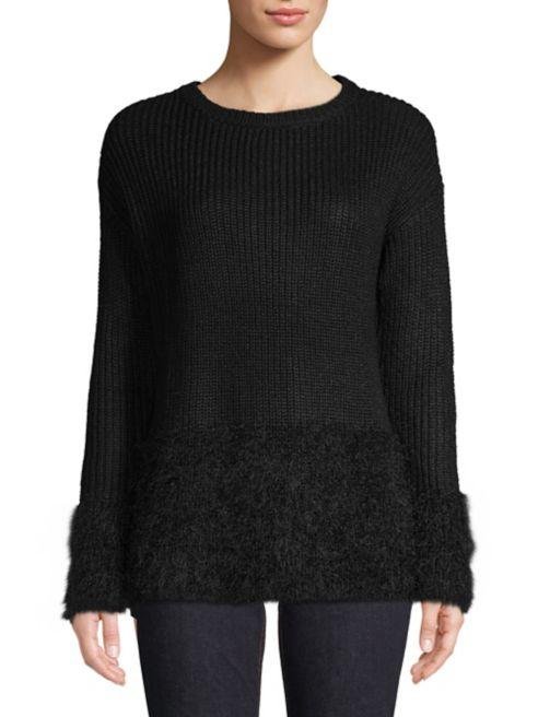 Taylor Trim Lordamp; Boxy Fringe Sweater 8Nnvym0wOP