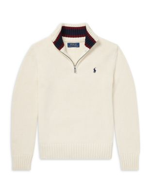 Boy's Cotton Half Zip Sweater by Ralph Lauren Childrenswear