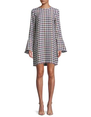 Mari Check Shift Dress by Equipment
