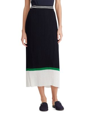 Pleated Colourblock Skirt by Lauren Ralph Lauren