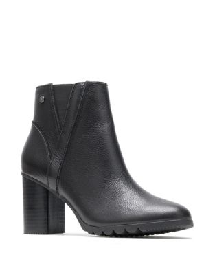Spaniel Leather Ankle Boots by Hush Puppies