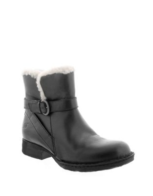 Kaia Leather Shearling Booties by Born