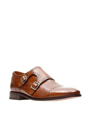 Nantasket Leather Monk Strap Shoes by Bostonian
