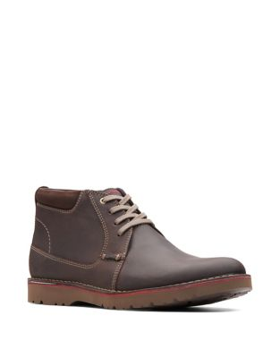 Vargo Leather Chukka Boots by Collection By Clarks