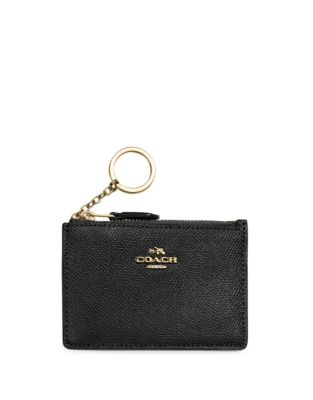Mini Crossgrain Leather Skinny Card Case by Coach