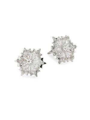 Swarovski Crystal Flower Stud Earrings by Swarovski