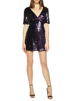 Sequin Embellished Shift Dress by Bardot