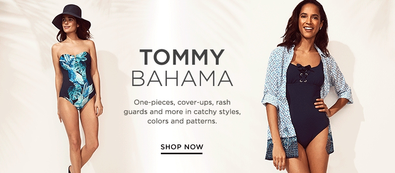1109c62ada9 Tommy Bahama black and blue strapless one-piece swimsuit and navy one-piece  swimsuit